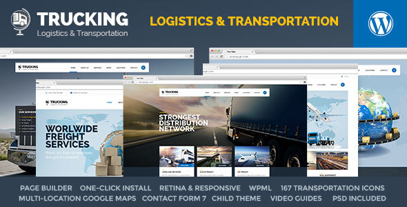 Trucking - Transportation & Logistics WordPress - Business Corporate