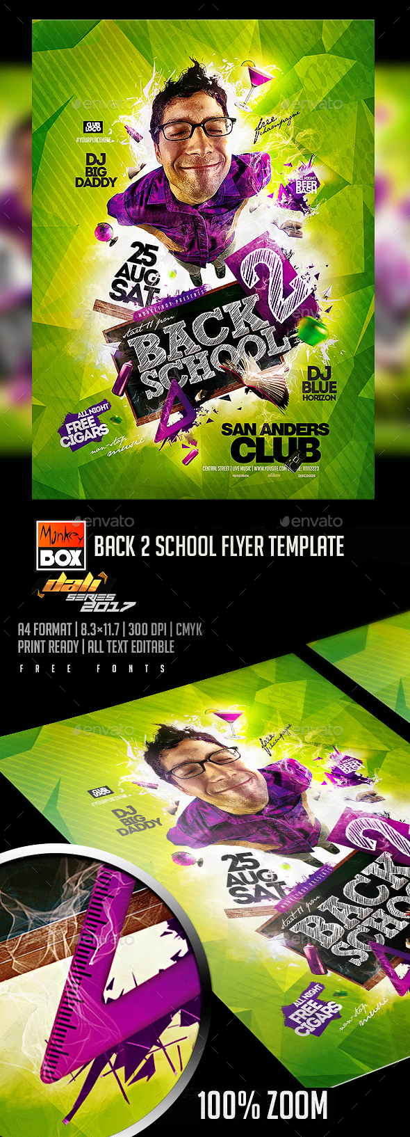 GraphicRiver Back 2 School Flyer Template 20489707