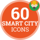 Smart City Innovation Building Animation - Flat Icons and Elements