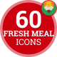 Fruit Meal Vegetable Fresh Animation - Flat Icons and Elements