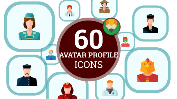 Avatar Profile Profession People Animation – Flat Icons and