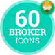Broker Real Estate Animation - Flat Icons and Elements