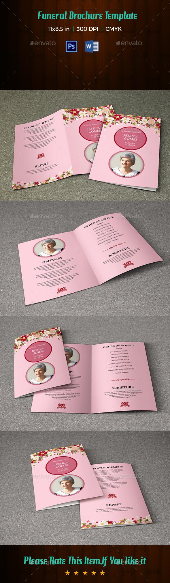 Funeral Program Template V192 - Informational Brochures