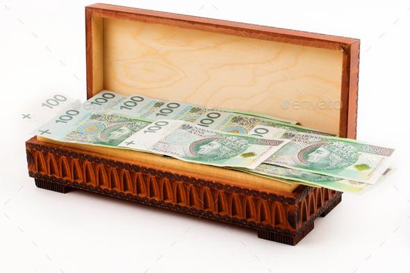 jBox full of Polish money