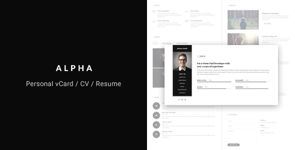 Alpha - vCard/CV/Resume Template