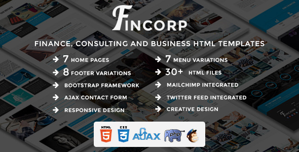 Image of FINCORP - Multipurpose Finance, Consulting and Business HTML Templates