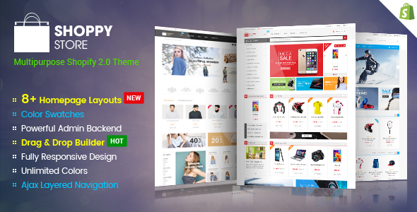 ShoppyStore - Multipurpose Responsive Sectioned | Drag & Drop Shopify Theme