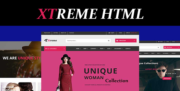 ThemeForest Xtreme Fashion eCommerce HTML5 Template 19993982