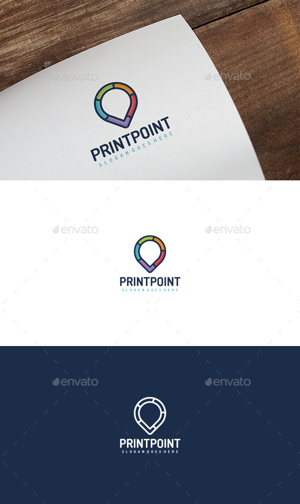 GraphicRiver Colorful Point Logo 20498087
