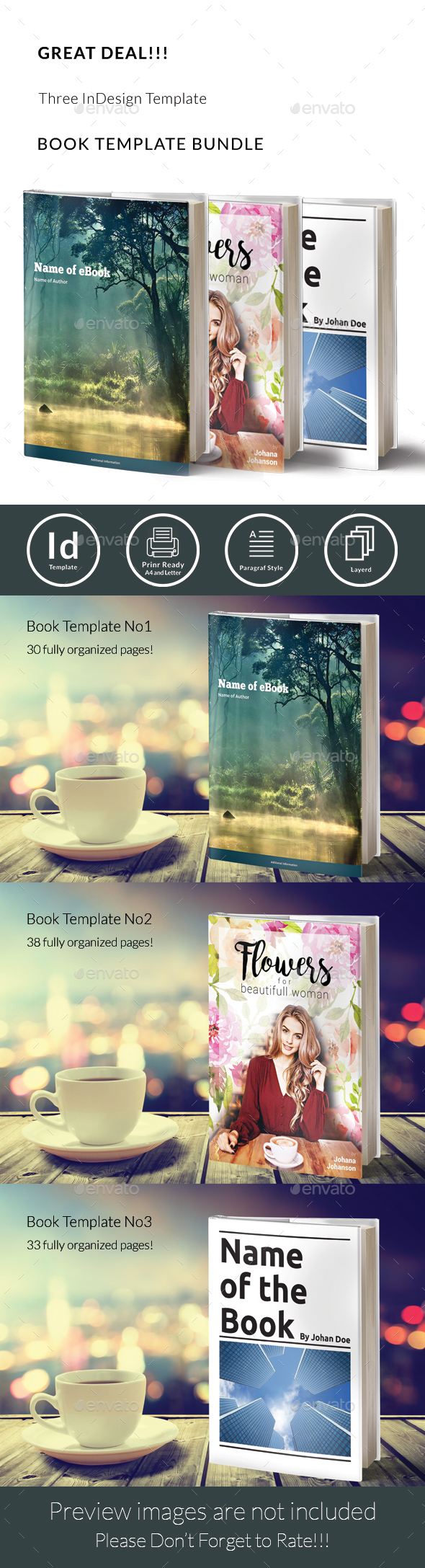 GraphicRiver Book Template Bundle 20498100