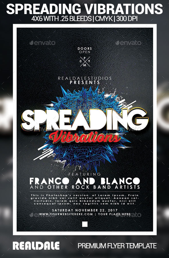 Spreading Vibrations - Events Flyers