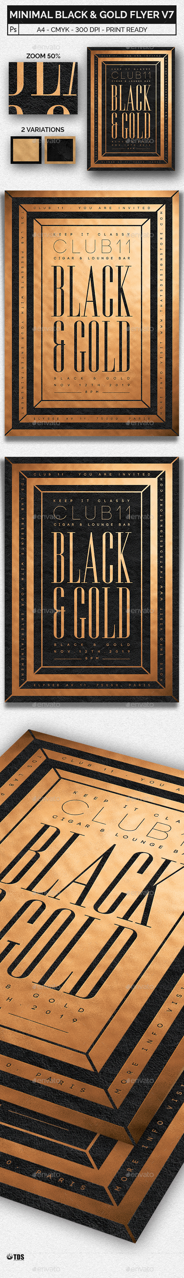 Minimal Black and Gold Flyer Template V7