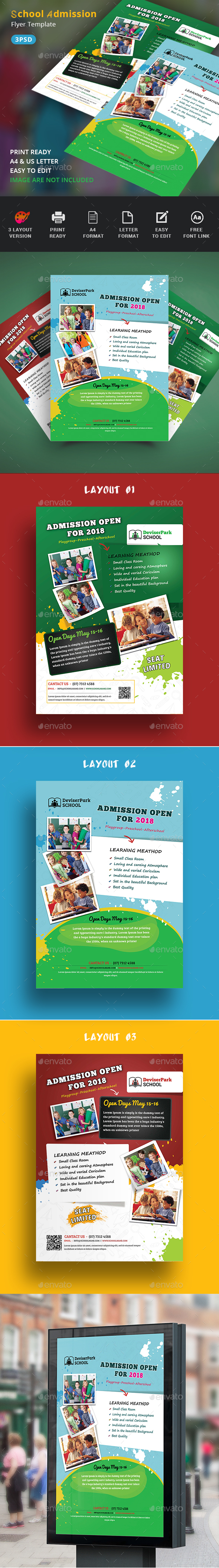 GraphicRiver Junior School Promotion Flyers 20498404