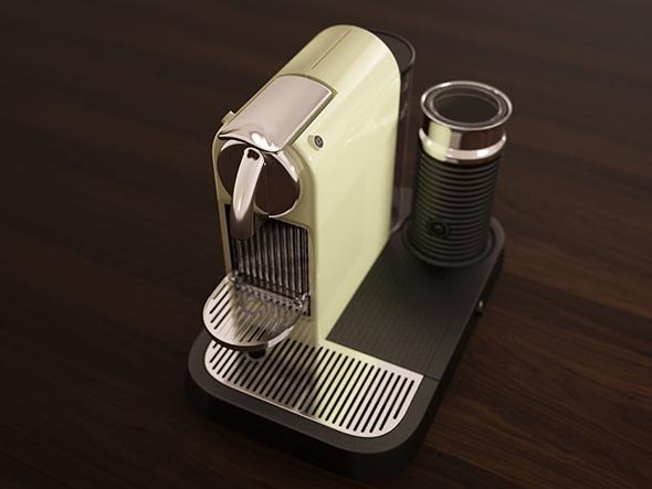 3D Model Citiz 'n Milk Espresso Maker Model - 3DOcean Item for Sale