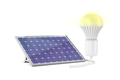 Solar panel and glowing light bulb - PhotoDune Item for Sale