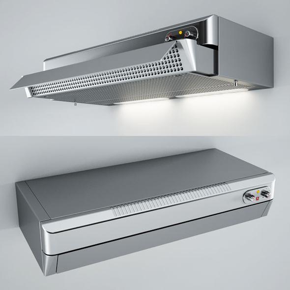 3DOcean Alpes Inox Extendable Filter Kitchen Hoods CFE 20498526