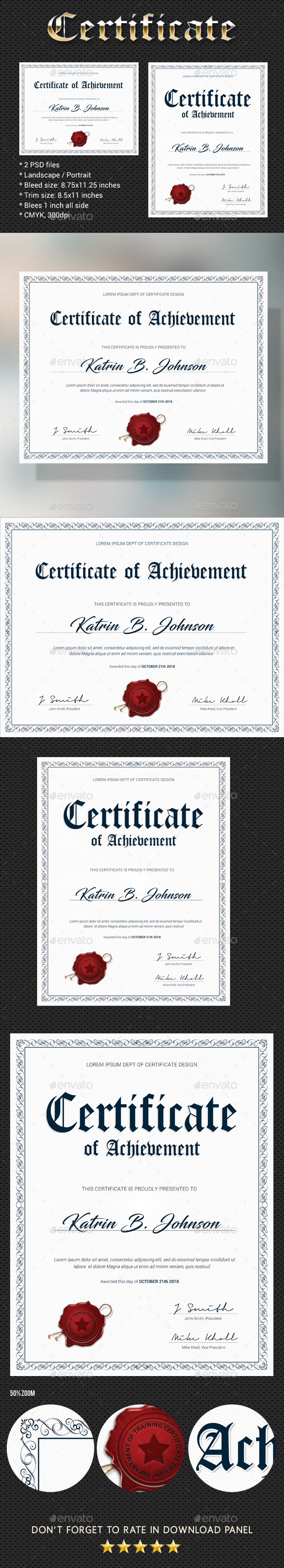 Certificate V3 - Certificates Stationery