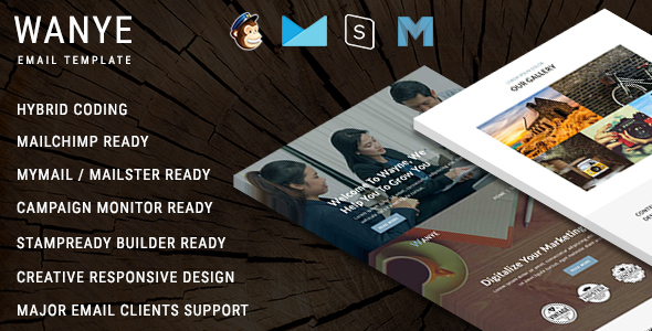Wanye - Multipurpose Responsive Email Template With Online StampReady Builder Access
