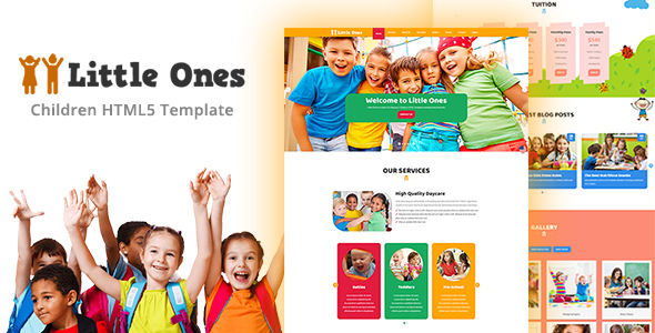 ThemeForest Little Ones One Page Children Daycare HTML Template 20373860