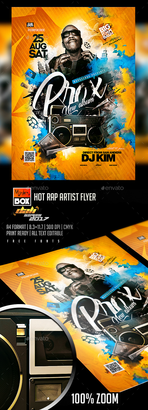 Hot Rap Artist Flyer - Flyers Print Templates