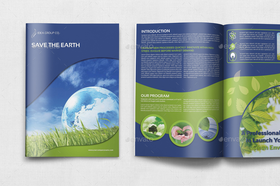 environment eco brochure template 12 pages