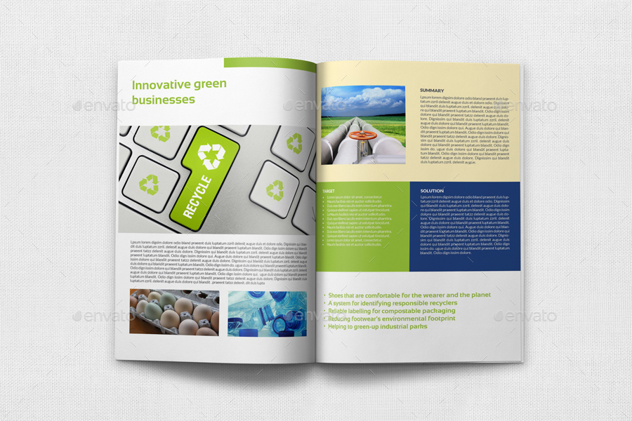 Environment Eco Brochure Template 12 Pages By Owpictures