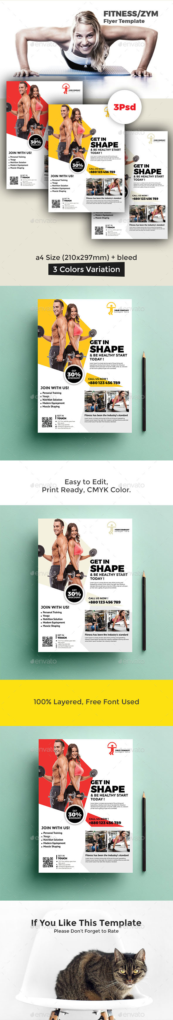 GraphicRiver Fitness Flyer 20498809
