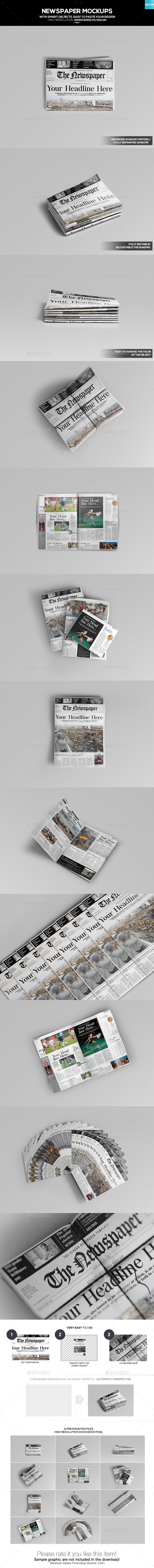 Newspaper Mockups 01 - Miscellaneous Print