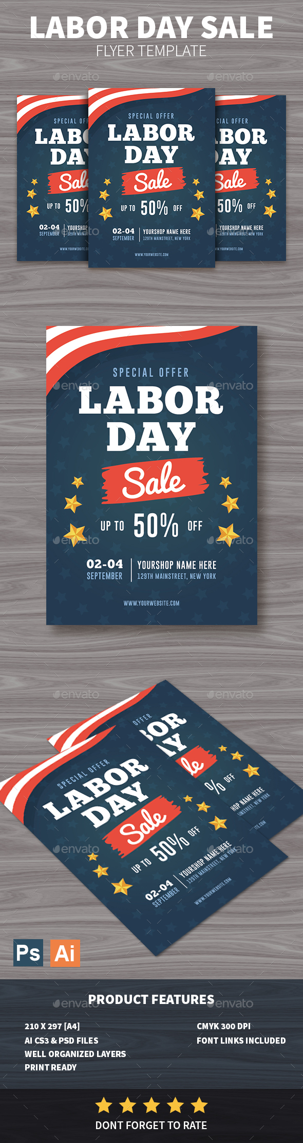 GraphicRiver Labor Day Sale Flyer 20498990
