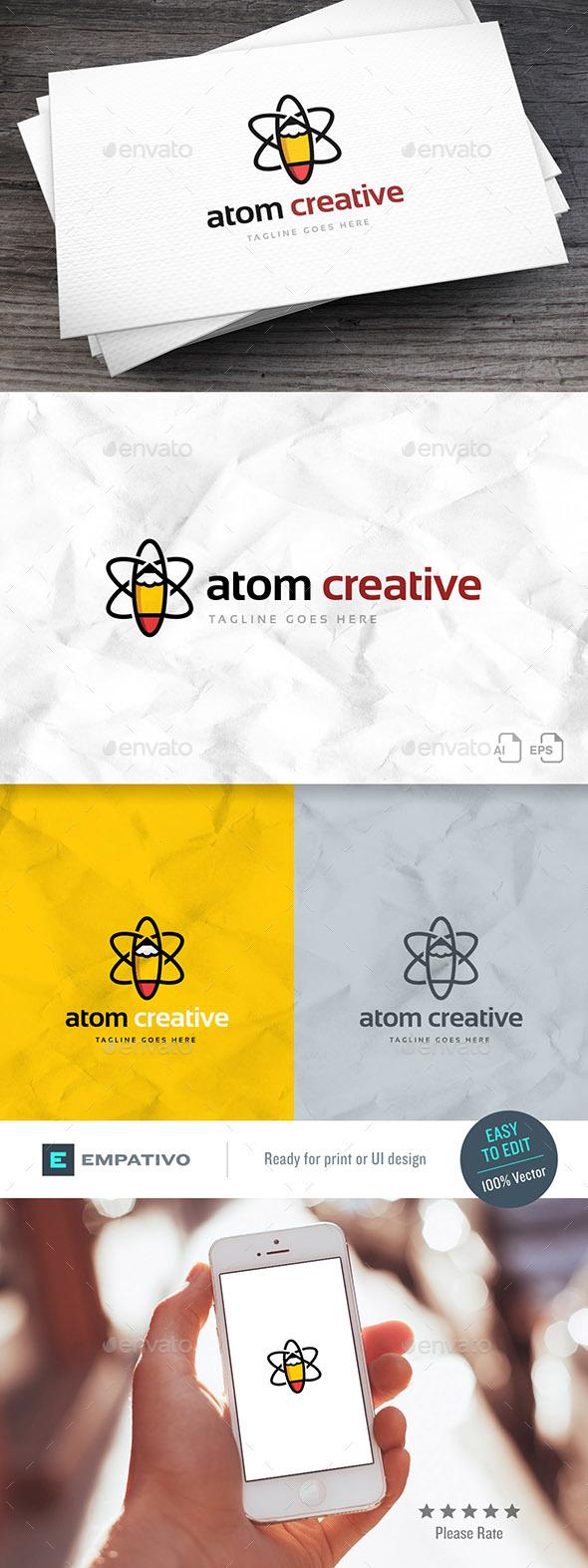 Atom Creative Logo Template - Symbols Logo Templates