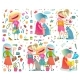 Girlfriends Girlish Cartoon Colorful