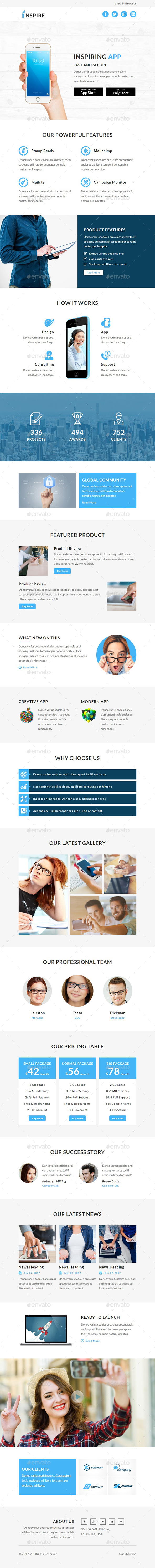GraphicRiver Inspire E-newsletter PSD Template 20487924