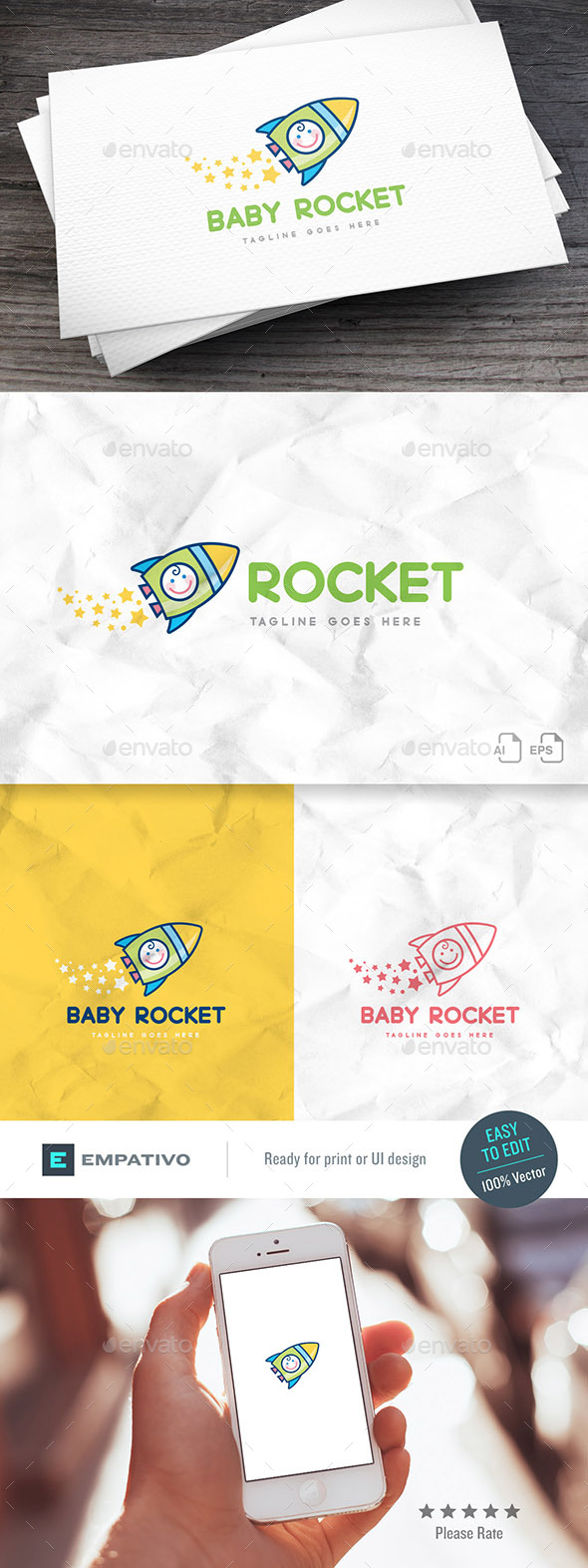 Baby Rocket Logo Template