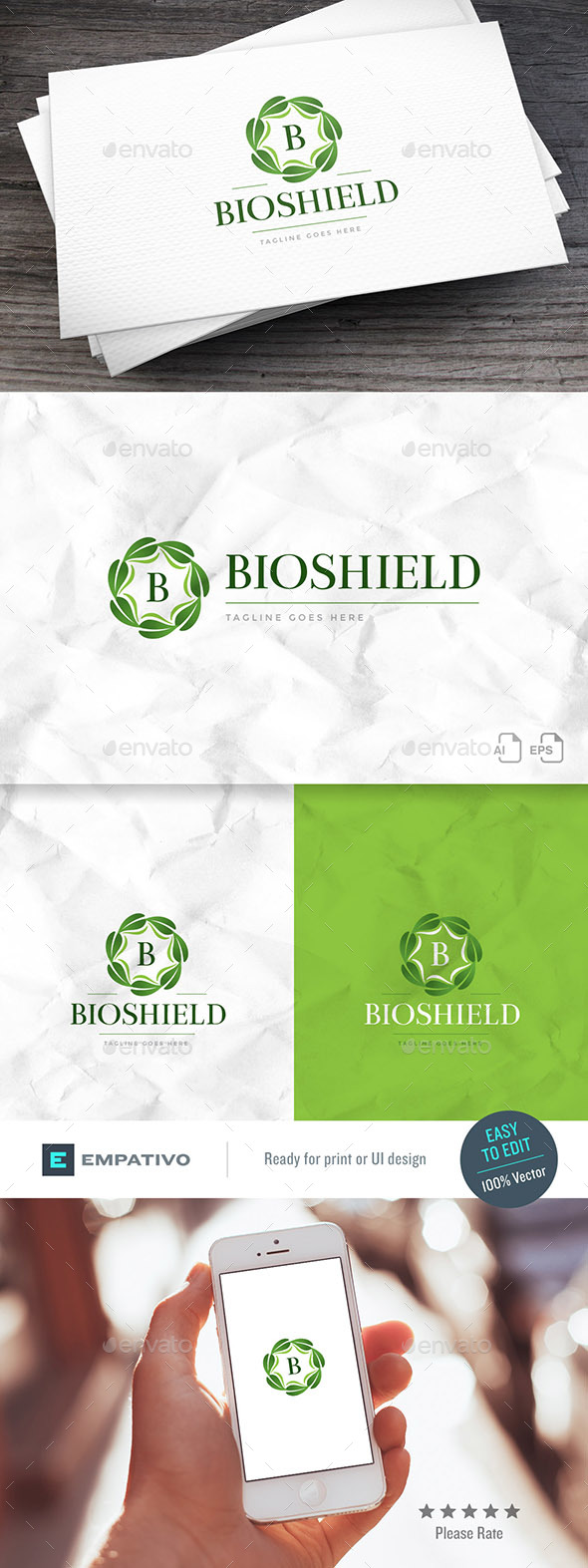 Bioshield Logo Template - Nature Logo Templates