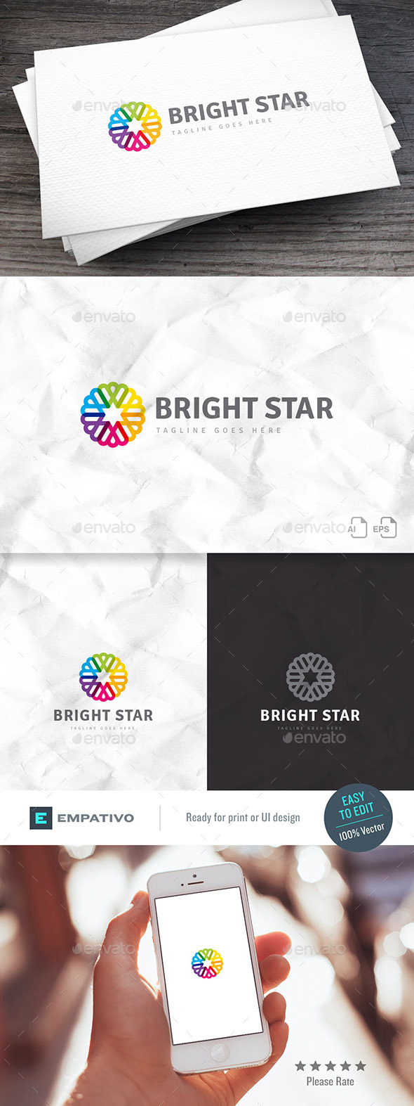 Bright Star Logo Template