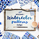 Indigo Blue Watercolour Patterns - GraphicRiver Item for Sale