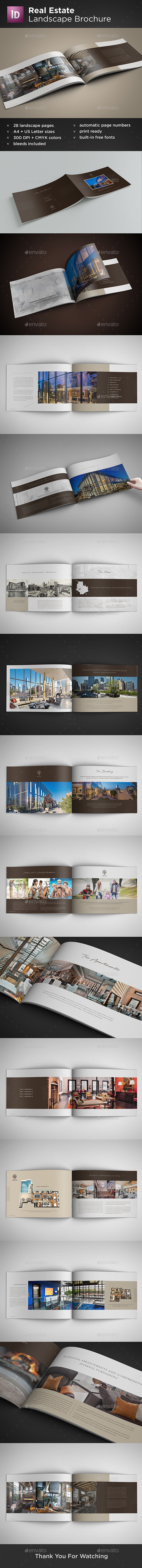 Real Estate Landscape Brochure - Catalogs Brochures
