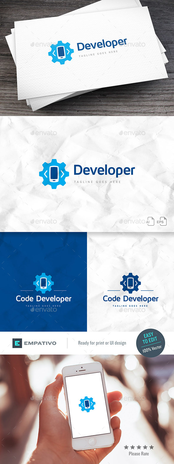 Code Mobile Logo Template - Symbols Logo Templates