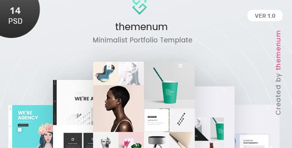 Themenum - A Clean & Creative Minimal Portfolio & Agency PSD Template