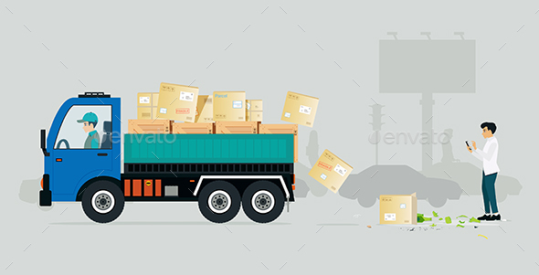 GraphicRiver Irresponsible Cargo Truck 20499443
