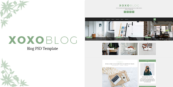 XOXO - Blog PSD Template