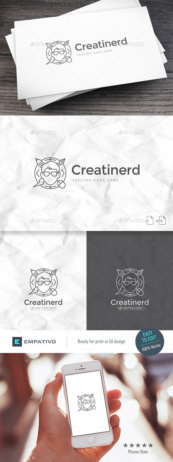 Creatinerd Logo Template - Humans Logo Templates