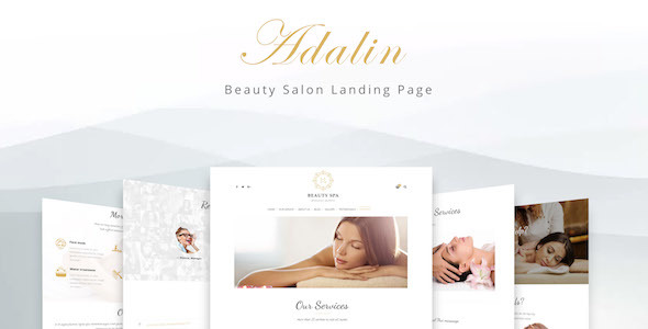 Adalin - Beauty Salon Landing Page - Health & Beauty Retail