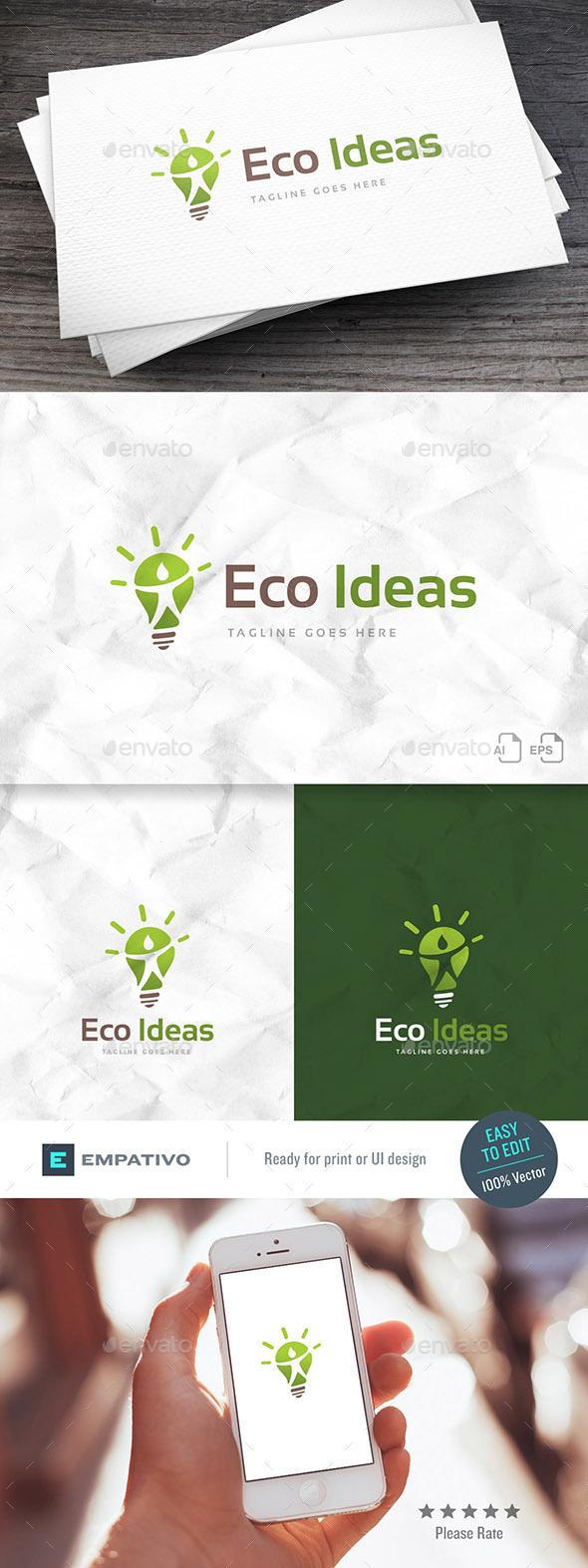 Eco Ideas Logo Template - Humans Logo Templates