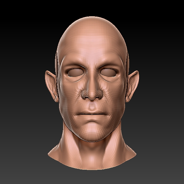 Half Elf 3D Bust - 3DOcean Item for Sale