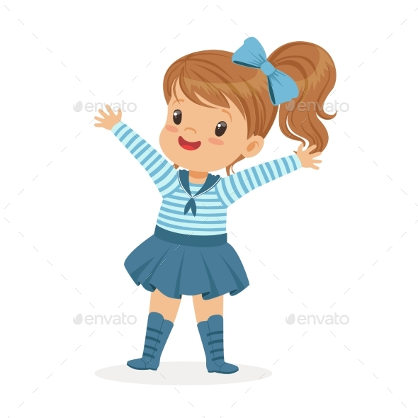 GraphicRiver Girl Character Wearing a Sailors Outfit 20499712