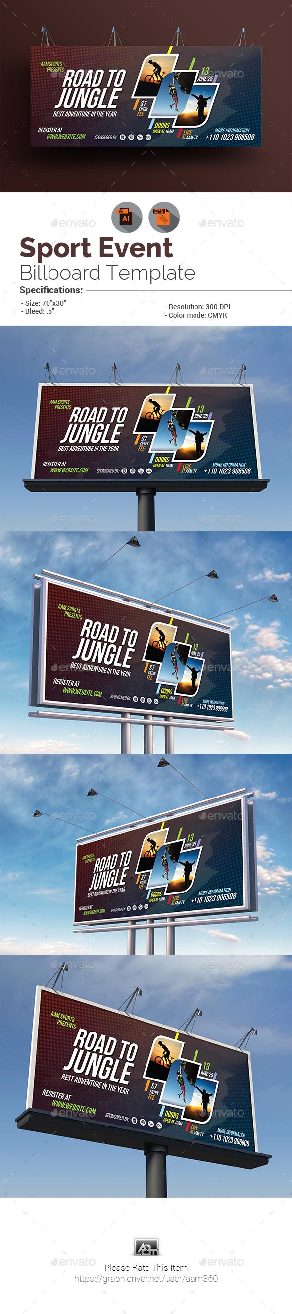 Sport Event Billboard Template - Signage Print Templates