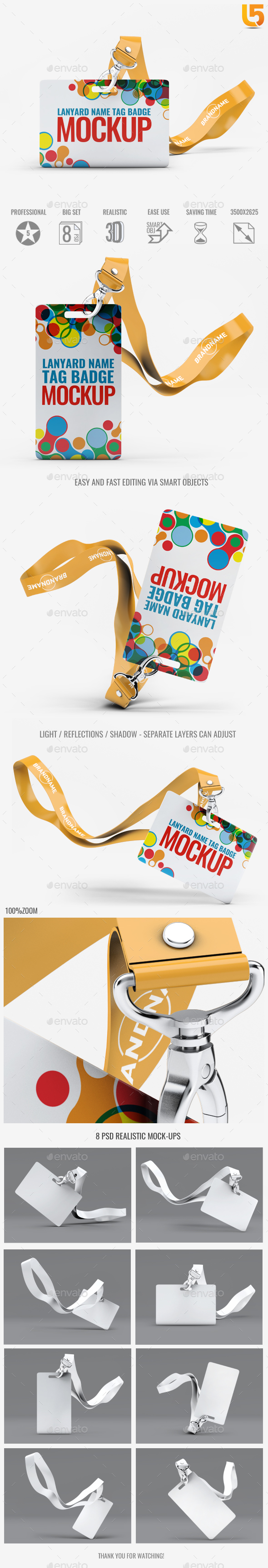 GraphicRiver Lanyard Tag Badge Mock-Up 20500022