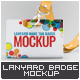 Lanyard Tag Badge Mock-Up - GraphicRiver Item for Sale