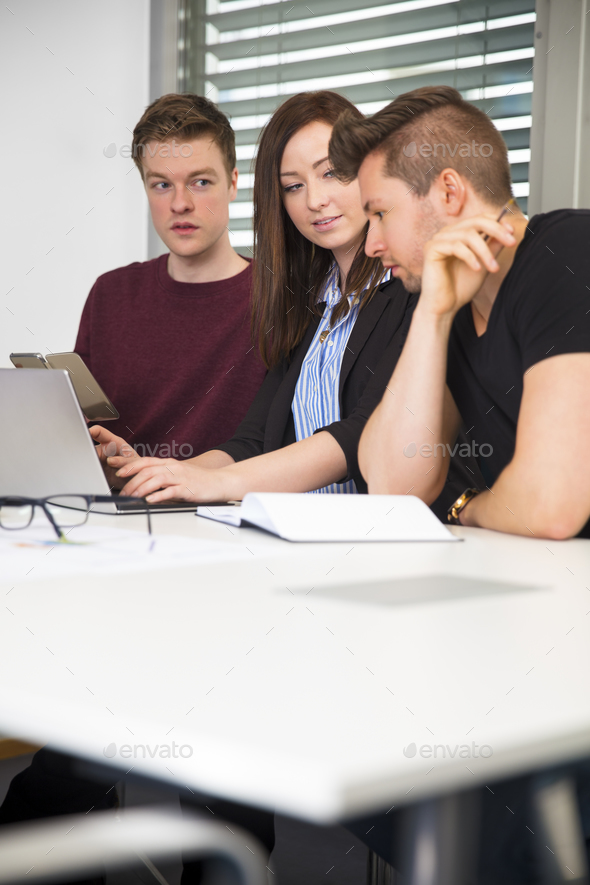 Business People Working At Desk In Office - Stock Photo - Images